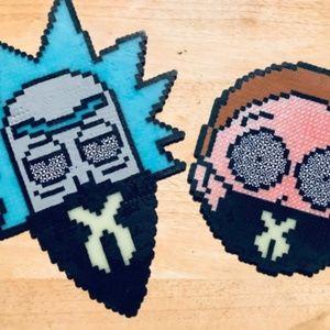 Jewelry - Rick and Morty Rave Kandi Perler Necklace